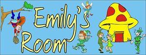 Kids-Door-Sign-CHILDRENS-PLAQUES-Bedroom-Doors-Personalised-names-Gift-ELVES
