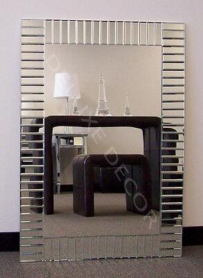 Bevelled Frameless Modern Wall Mirror Art Deco NEW 2613