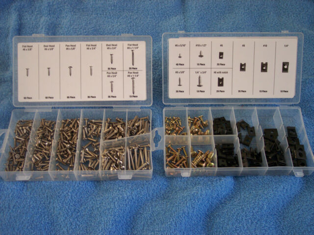 320 stainless Steel Screws & 170 Piece U-Clip & Screws with Storage Containers