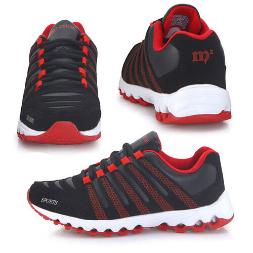 New Miso Zium Black Red Mens Sports Club Running Training Sneakers Shoes