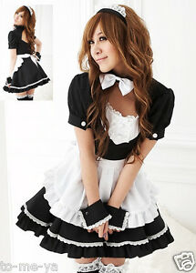 Maid-Dress-Costume-Gothic-Sexy-Fancy-Dress-Party-Japanese-Anime-Cosplay-2-Sizes