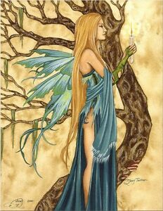 amy brown moon tattoo limited edition signed print fairy faery witch 8x10 rare ebay. Black Bedroom Furniture Sets. Home Design Ideas