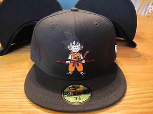Dragon-Ball-New-Era-Hat-Gokuu-Black-5950-Fitted-Hat-NEW-RARE