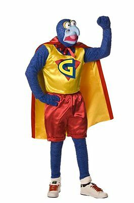 The Muppets Great Gonzo Superhero Funny Dress Up Halloween Adult Costume