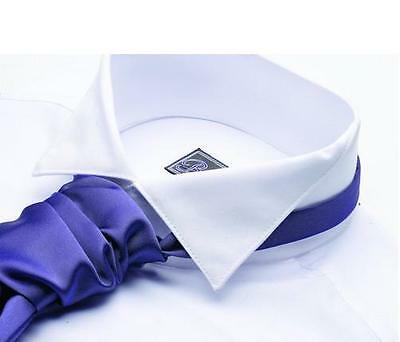 St. Andrews Formal Kilt Victorian Wing Collar Shirt White Double Cuff New