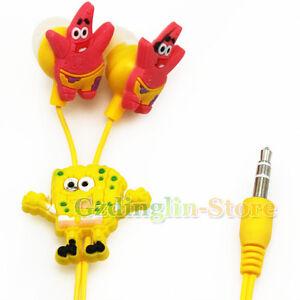 SpongeBob-Headphones-Earphone-Headset-3-5mm-For-MP3-E10