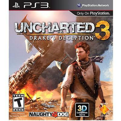 Uncharted 3: Drake's Deception GAME (Sony Playstation 3) PS PS3