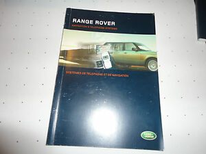 Details about 2007/ 2008/ 2006 RANGE ROVER NAVIGATION and telephone systems  OWNERS MANUAL