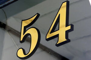 Image Is Loading Gold Leaf Fanlight Transom House Numbers For Victorian
