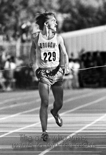 Steve Prefontaine Poster// /'The one who wins wants to win the most/'  16x20 inch