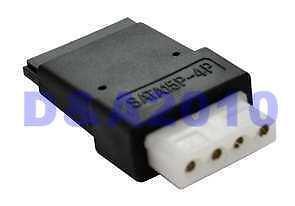 4 Pin Molex PC IDE female to 15 pin SATA female Power Adapter convertor