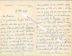 Lettre autographe signée de Jacques BOULENGER, Ecrivain, critique littéraire - France - Reliure: Sans reliure Année de publication: 1925 Thme: Littérature Langue: Franais Particularités: Edition signée - France
