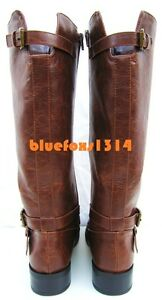 Women-Boots-Brown-MidCalf-Casual-ImitLeather-Riding-Equestrian-Boots-Size-5-5-11