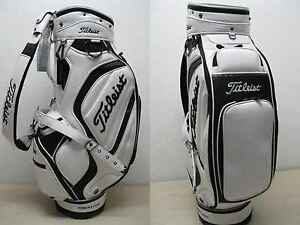 NEW-2012-TITLEIST-GOLF-STAFF-CART-BAG-JAPAN-TOUR-MODEL-WHITE-BLACK