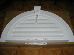 Fypon half round gable non vented w key door window for Fypon window pediments