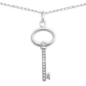 Sterling-Natural-Diamond-Key-Pendant-Enhancer-w-18-Sterling-Chain