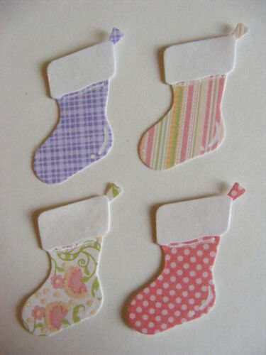 Father Christmas Stocking Stockings Night Before Christmas Card Die Cuts