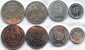 Burundi-Complete-Set-of-4-Coins-1-5-10-50-Francs-UNC