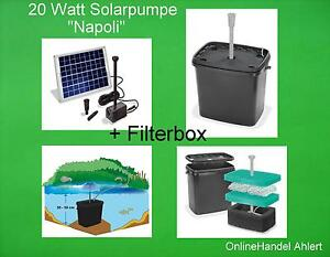 20 w solar pump filter box filter solar pond pump stream for Solar water filter for ponds