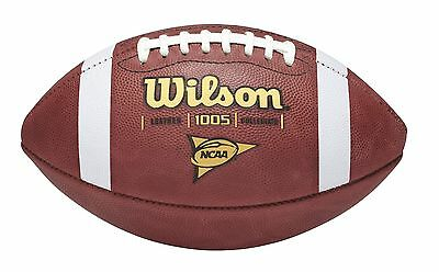 WILSON OFFICIAL NCAA 1005 GAME SIZE LEATHER FOOTBALL - Auth Dealer - Made in USA
