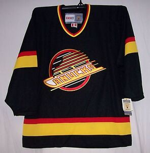 Vintage-1994-Vancouver-Canucks-Black-Throwback-CCM-550-Jersey-XXL-2XL