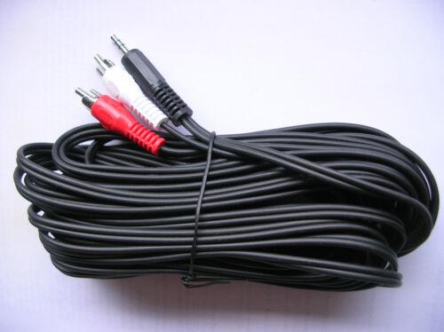 Audio Kabel Klinke 3,5 mm auf 2x Cinch 10 m