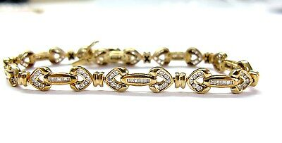 Fine Design Multi-Shape 1.20CT Diamond Tennis Bracelet YG 14KT