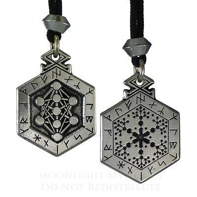Armanen Runes Talisman Pendant Kabbalah Tree of Life Norse Jewelry Viking Asatru