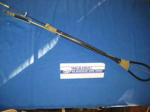 MGB ROADSTER GT HANDBRAKE CABLE WITH STEEL ROD FOR STEEL WHEEL AXLE 1976 on  w2d