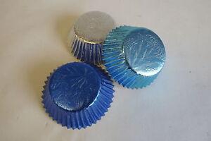 Mix-BLUE-PALE-BLUE-SILVER-mix-BUN-FAIRY-Cake-cases-perfect-for-FROZEN-cakes