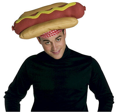FUNNY WILD LARGE JUMBO HOT DOG HOTDOG WEINER HAT FAST FOOD COSTUME HAT 1928