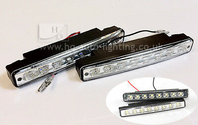 DRL H QAULITY Daytime Running LED Ligts Front Lights E4 00RL 87R 8 LED J1
