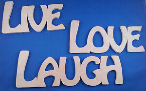 Wooden-Plaque-Word-Letters-034-LIVE-LOVE-LAUGH-034-Home-Wall-Door-Decoration