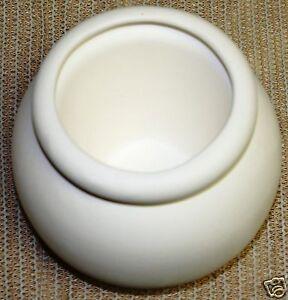 Ceramic-Bisque-Medium-African-Violet-Pot-Duncan-Mold-83c-U-Paint-Ready-To-Paint