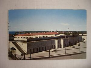 VINTAGE-POSTCARD-THE-CURTAIN-WALL-OLD-FORT-HENRY-KINGSTON-ONTARIO-CANADA-1959