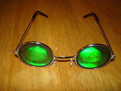 HALLOWEEN POKER SHADES 3D HOLOGRAPHIC PUMPKIN GLASSES SUNGLASSES FUNNY !!!