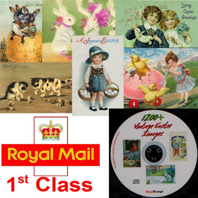 Over 1200 vintage Easter images on CD, great for art & crafts