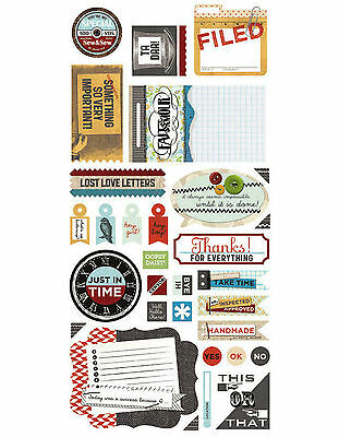 BasicGrey CLIPPINGS TITLES Cardstock Sticker Sheet scrapbooking