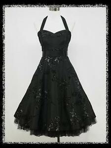 dress190-BLACK-50s-HALTER-FLOCK-TATTOO-ROCKABILLY-PROM-PARTY-COCKTAIL-DRESS