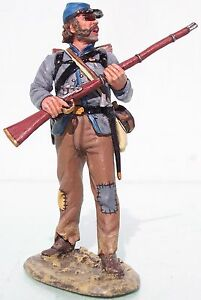 KING & COUNTRY CIVIL WAR CW022 CONFEDERATE REBEL STANDING READY MIB
