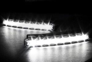FEUX-DE-JOUR-8-LED-RENAULT-TWINGO-CLIO-1-2-3-MEGANE-LAGUNA-ESPACE-SCENIC-GRAND