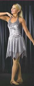 EVER CLEAR Lyrical Ballet Ice Skating Dance Dress Costume Girls CXS,CS CLEARANCE
