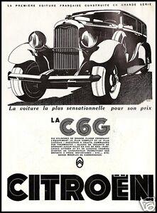 PUBBLICITA-039-1931-CITROEN-AC-6-G-AUTO-2500-CC-45-CV-TORPEDO-LAUNDLET-ROADSTER