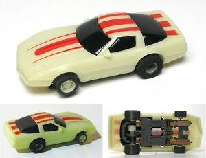 1988-TYCO-HO-83-Chevy-Corvette-NITEGLOW-Slot-Car-440-Magnum-Cliff-Hanger-6234