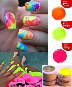 5-x-5-ml-Professional-different-NEON-Colors-UV-Gel-False-Nail-Art-Set
