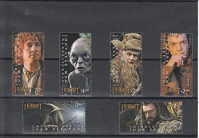 New Zealand 2012 MNH The Hobbit An Unexpected Journey 6v Set Stamps Bilbo Gollum