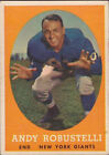 1958 Topps Andy Robustelli New York Giants #15 Football Card