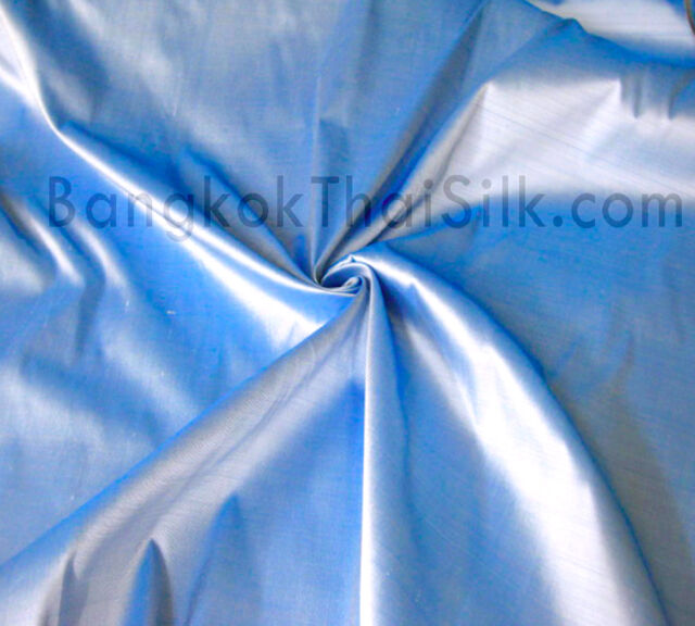 BLUE WHITE TINT 100% PURE SILK FABRIC CRAFT QUILT SHEET DRAPE TABLECLOTH BTY