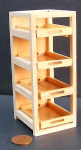 1-12-Massstab-Natuerliche-Ausfuehrung-Holz-Baecker-Rack-Mit-4-BK2-Ablage-Puppenhaus