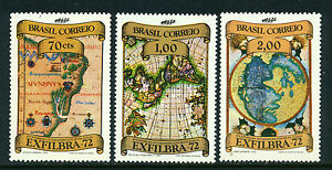 Brazil SC# 1239-41 MH, EXFILBRA 3 Stamp Set, Issued in 1972/